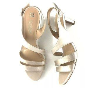 Naturalizer Taimi Metallic Fabic Dress Sandal 7.5